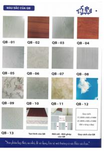 Màu sắc tấm PVC QB